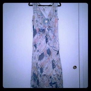 address  II Blue Lined Handkerchief Hem Dress 18W